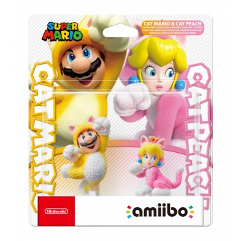 Super Mario Cat Mario + Cat Peach amiibo