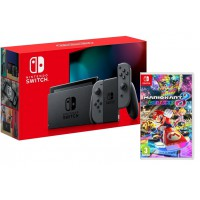 Nintendo Switch Grey + Mario Kart 8 Deluxe Switch