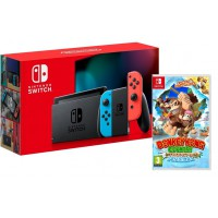 Nintendo Switch Neon + Donkey Kong Country Tropical Freeze Switch
