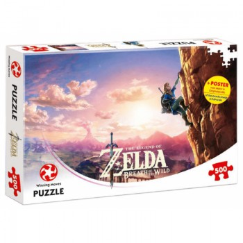 The Legend of Zelda Breath of the Wild Puzzle 500 db + Poszter