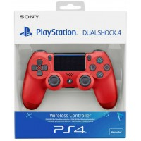 DualShock 4 Controller Wireless Black Magma Red (Sony) (PS4)