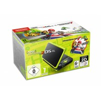 New Nintendo 2DS XL Black & Lime Green + Mario Kart 7