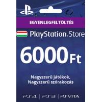 PlayStation Store Egyenlegfeltöltés 6000 Ft (PS3,PS4,Vita)