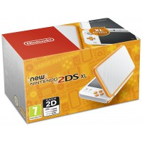 New Nintendo 2DS XL White & Orange+ ajándék