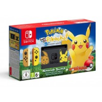 Nintendo Switch Pikachu & Eevee Edition + Pokémon: Let's GO Pikachu + Poké Ball Plus