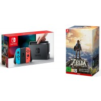 Nintendo Switch Neon Red/ Neon Blue - The Legend of Zelda Breath of the Wild Limited Edition