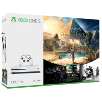 Xbox One S 1TB Fehér + Assassin s Creed Origins + Rainbow Six Siege
