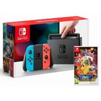 Nintendo Switch Neon Red/ Neon Blue + Pokkén Tournament DX