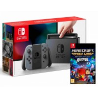 Nintendo Switch Grey + Minecraft Story Mode The Complete Adventure