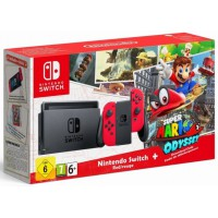 Nintendo Switch Red + Super Mario Odyssey (NSW)