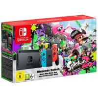 Nintendo Switch Neon Red/ Neon Blue + Splatoon 2